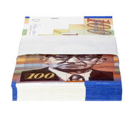 Isolated 100 NIS Bills Stack Stock Photos