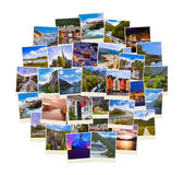 Stack of Norway travel shots Royalty Free Stock Photos