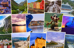 Stack of Norway travel shots Stock Images