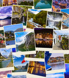 Stack of Norway travel shots Royalty Free Stock Photography