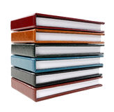 A stack of note books Stock Image
