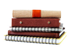 Stack of notebook isolated Stock Photography