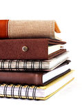 Stack of notebook isolated Royalty Free Stock Photo