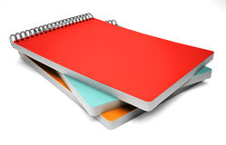 Stack of notebook  on white Stock Image