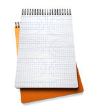 Stack of notebook  on white Stock Images