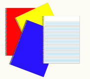 Stack of Notebooks. Back to school supplies Stock Image
