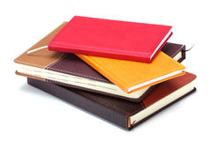 Stack of notebooks. On white background Royalty Free Stock Photo