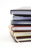 Stack of notebooks Stock Photo