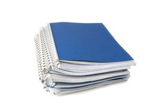 A stack of notebooks stock photo