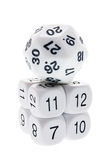 Stack of Number Dice Royalty Free Stock Photo