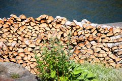Stack o f fire wood Royalty Free Stock Images