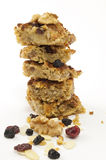 Stack of Oat cakes with Dries Fruit and Nuts Royalty Free Stock Photo