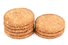 Stack of oat cookiea Royalty Free Stock Photo