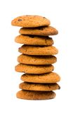 Stack of oatmeal chocolate chip cookies Stock Photography