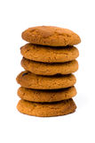 Stack of oatmeal chocolate chip cookies Stock Photo