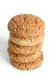 Stack of oatmeal cookies. On the white background Stock Images