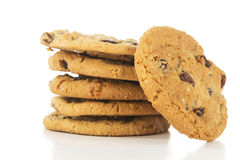 Stack of Oatmeal Raisin Cookies Royalty Free Stock Photography