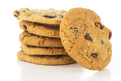 Stack of Oatmeal Raisin Cookies Royalty Free Stock Images