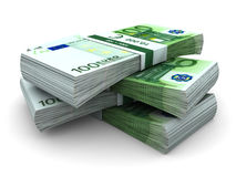 Stack Of 100€ Bills Stock Photography