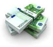 Stack Of 100€ Bills Stock Photos