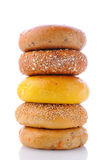 Stack Of Bagels Stock Photo