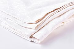 Free Stack Of Bed Natural Linen Clothing. Royalty Free Stock Photos - 103274588