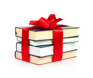 Stack Of Book With Ribbon Stock Photography