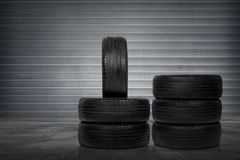 Free Stack Of Car Tires Royalty Free Stock Image - 101085886