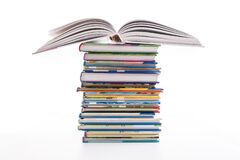 Free Stack Of Children`s Books Isolated On White Royalty Free Stock Photos - 179477118