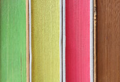 Stack Of Colorful Books In Closeup Detail Royalty Free Stock Image