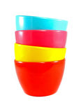 Stack Of Colorful Plastic Bowl Stock Image