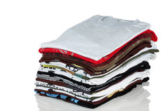Free Stack Of Colorful Tshirt Royalty Free Stock Image - 17611536