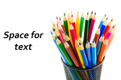 Free Stack Of Colour Pencils Inside The Container Stock Images - 23285014