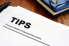Free Stack Of Documents Treasury Inflation Protected Securities TIPS Stock Photos - 156891523