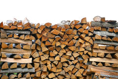 Stack Of Firewood. Big Pile Of Firewood For Furnace, Background. Stock Image