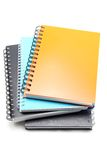 Stack Of Hard Cover Ring Binding Note Book Royalty Free Stock Image