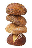 Stack Of Healthy Bread Isolated Royalty Free Stock Photo