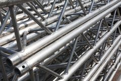 Stack Of Metal Trusses Stock Images