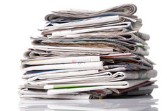 Free Stack Of Newspapers Stock Photos - 3860113