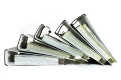 Stack Of Office Files Stock Photos