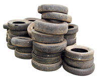 Stack Of Old Tires Stock Photo