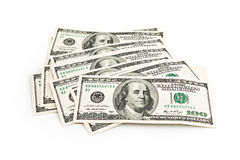 Stack Of One Hundred Dollars Stock Images