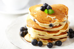 Stack Of Pancakes With Fresh Blueberry Stock Image