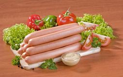 Stack Of Sausages Royalty Free Stock Images