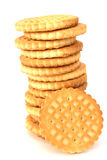 Stack Of Shortbread Butter Biscuits Stock Photos