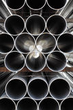 Stack Of Steel Pipes Stock Photography