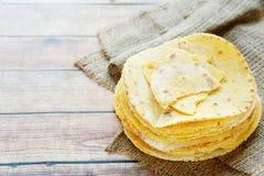 Stack Of Thin Corn Tortillas Stock Image
