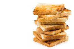Free Stack Of Toast Bread Isolated On White Background With Copy Spac Royalty Free Stock Photos - 111642368