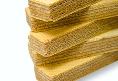 Stack Of Wafers Royalty Free Stock Photos