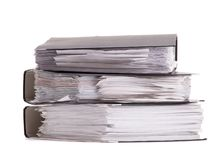 A stack of office documents close-up royalty free stock image